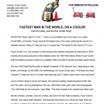 World's Fastest Man on a Cooler - Press Release Design - ©CHUCK MILLER Media.com