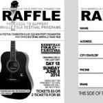 Kerrville Music Festival - Raffle Ticket Design - ©CHUCK MILLER Media.com
