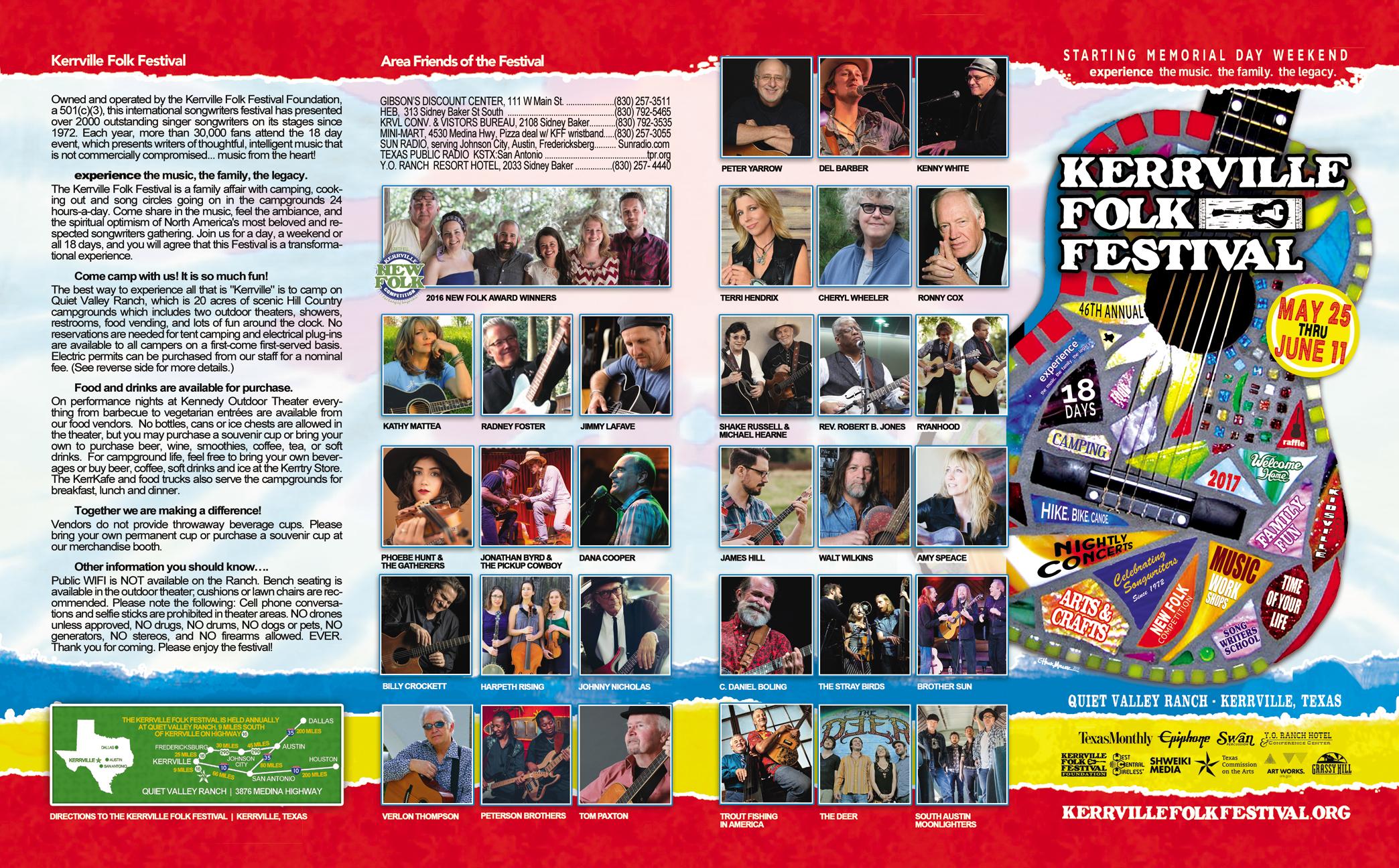 2017 Kerrville Folk Festival Brochure