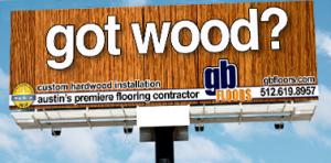 GB Floors, Austin - Outdoor Advertising Billboard - ©CHUCK MILLER Media.com