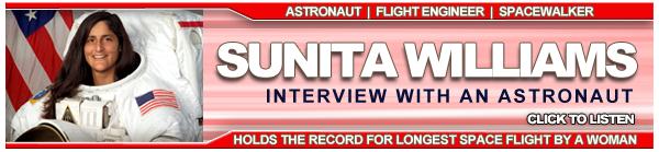 Sunita Williams Interview, NASA's Third Rock Radio - Web Advertising Design - ©CHUCK MILLER Media.com