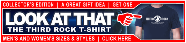 NASA's Third Rock Radio T-Shirt AD - Web Advertising Design - ©CHUCK MILLER Media.com