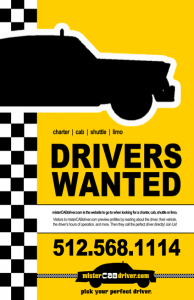 Mr. Cab Driver - Posters, Signs and Flyer Design - ©CHUCK MILLER Media.com